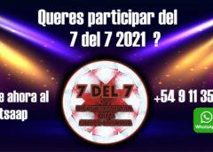 Inscribite para participar el 7 Del 7 2021
